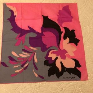 Givenchy Vintage 1970's Floral Scarf